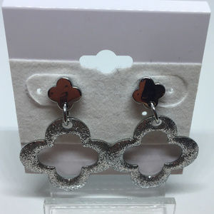 Milor Stainless Steel Sparkling Pierced Earrings
